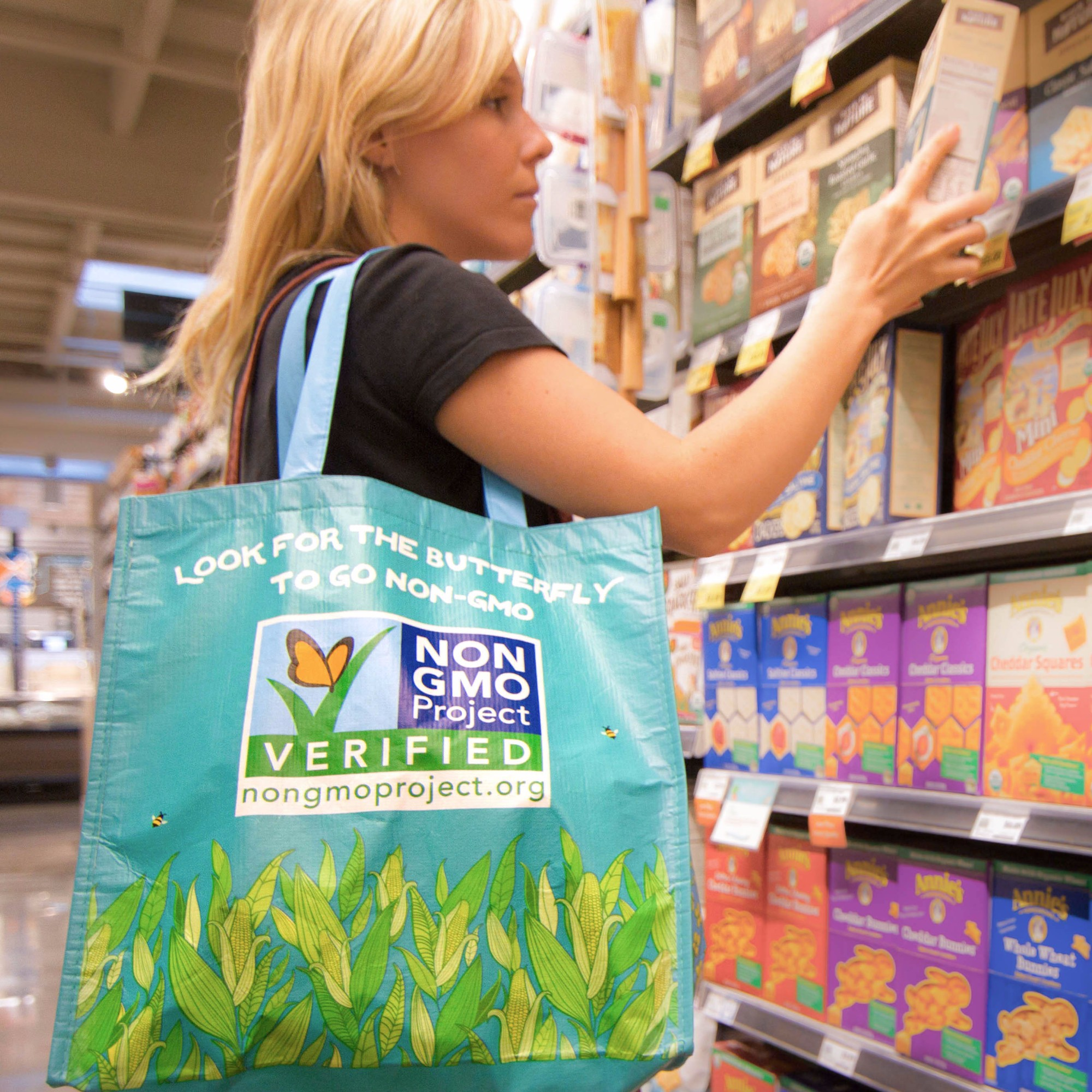 Non-GMO Month rPET shopping tote available online